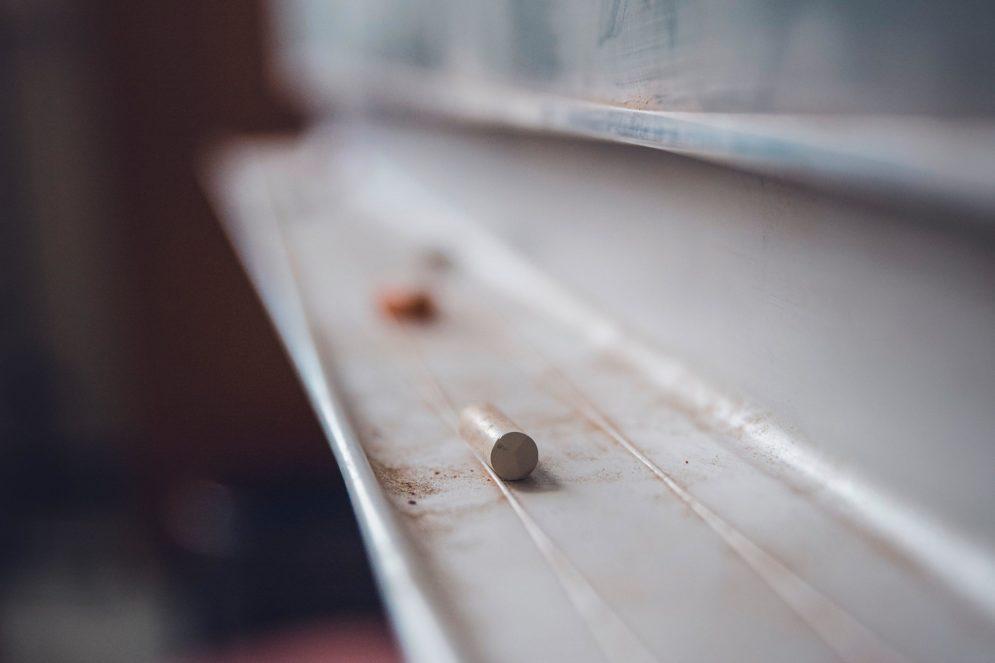 Tafel mit Tafelkreide