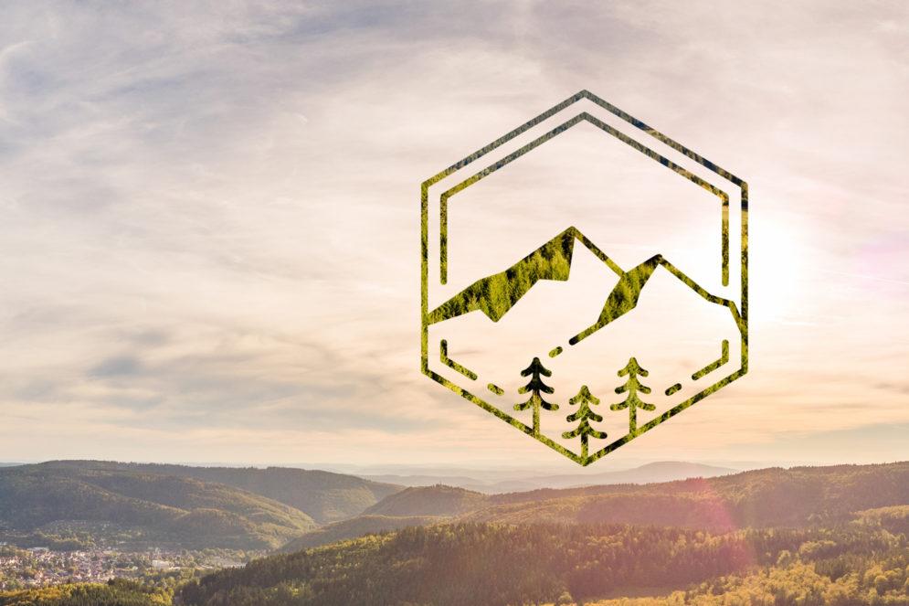 Ländliches Panorama