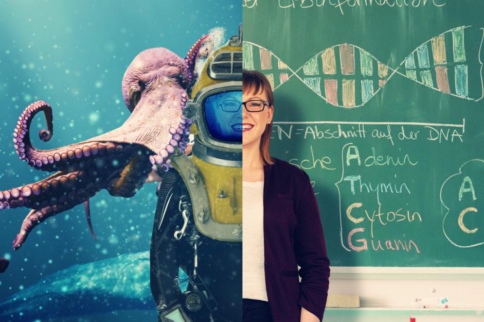 Frau Tschakert ist Biologielehrerin in Nordhausen