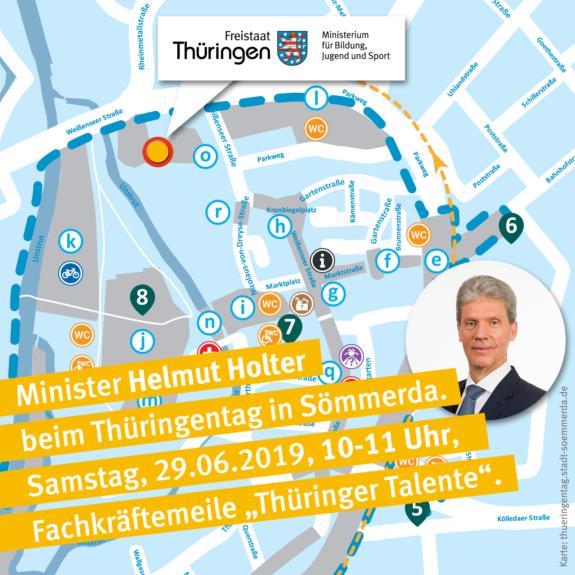 Thüringentag Fachkräftemeile Minister Holter