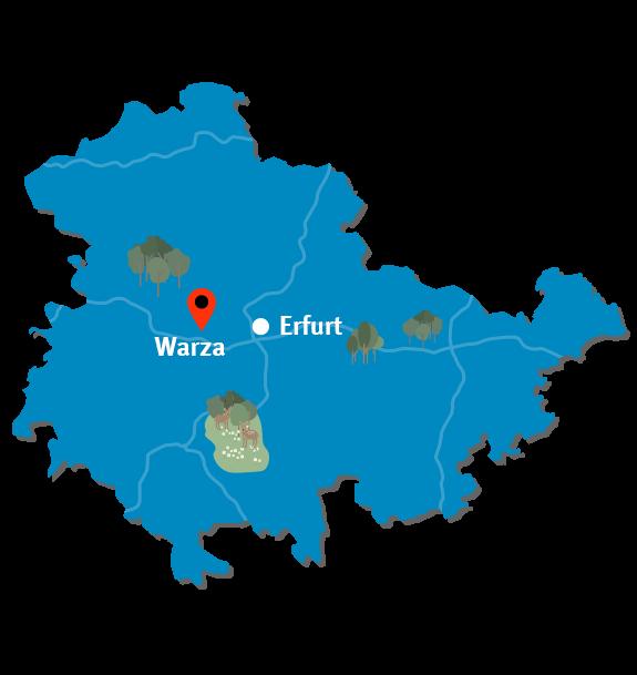 3 Thueringenkarte Warza