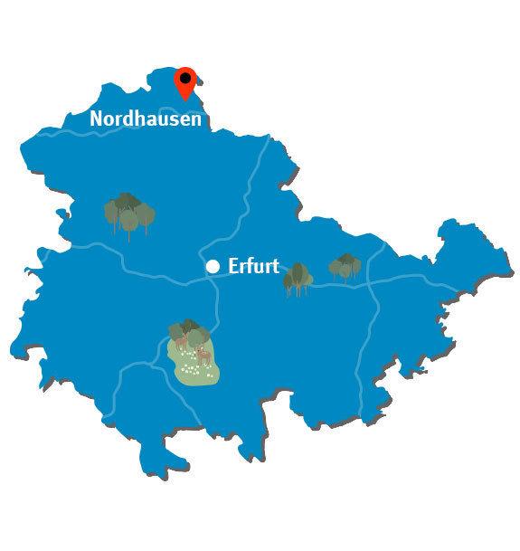 Nordhausen Karte