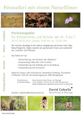 Poster Fotosafari komprimiert